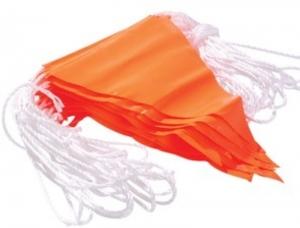 Orange Bunting Flag Line