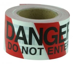 Barricade/Barrier Tape Danger do not enter - black on red & white