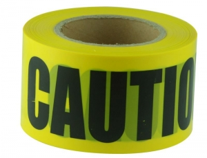 Barricade/Barrier Tape Caution - black on yellow