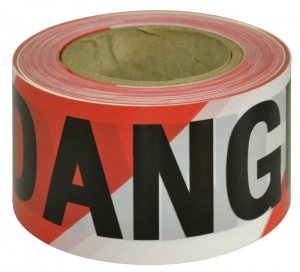 Barricade/Barrier Tape Danger - black on red/white