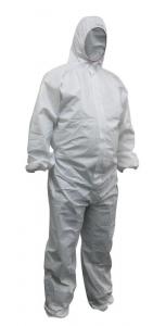 Maxisafe White Polypropylene Disposable Coveralls