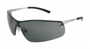 BOSTON Metal Frame Safety Glasses - Smoke Lens