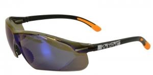 KANSAS Safety Glasses with Anti-Fog - Blue Mirror Lens