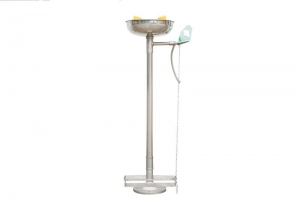 Stainless Steel Pedestal Eye Wash with Bowl