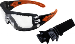EVOLVE Safety Glasses with Gasket & Headband - Clear Lens