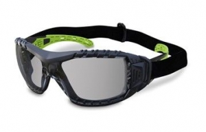 EVOLVE Safety Glasses with Gasket & Headband - Smoke Lens
