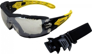EVOLVE Safety Glasses with Gasket & Headband - Silver Mirror Lens