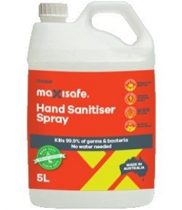 Hand Sanitiser Spray, 5 ltr bottle