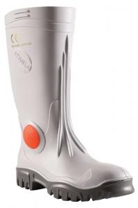 Stimela 'Executive' White Gumboot with Safety Toe