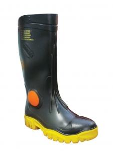 Stimela 'Foreman' Black Gumboot with Safety Toe