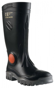 Stimela 'Superintendant' Black Gumboot with Safety Toe & Midsole