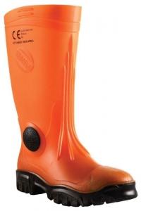 Stimela 'Commander' Gumboot with Safety Toe - Orange