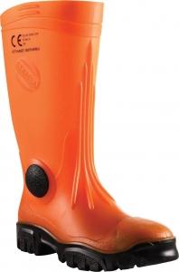 Stimela 'Commander' Gumboot with Safety Toe & Midsole - Orange