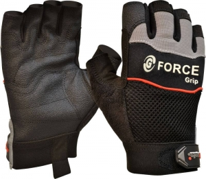 G-Force 'Grip' Fingerless Mechanics Gloves