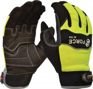 G-Force Hi-Vis Mechanics Glove, full finger