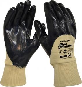 Blue Knight Nitrile 3/4 Dipped Glove, Knit Wrist