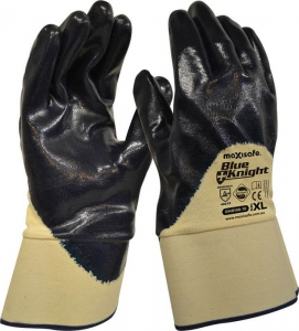 Blue Knight Nitrile 3/4 Dipped Glove with Safety Cuff - XLarge