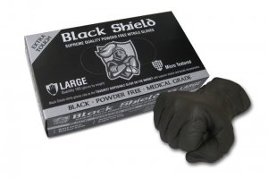 Black Shield Heavy Duty Nitrile, Unpowdered