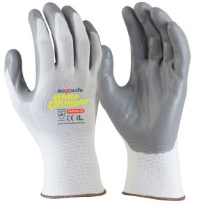 White Knight Synthetic Glove with Grey Foam Nitrile Palm