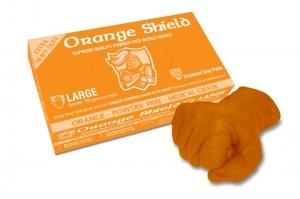 Orange Shield Heavy Duty Nitrile with Diamond Grip, Box 100