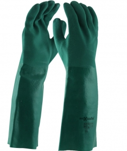 Maxisafe Green Double Dipped PVC Gauntlet - 45cm