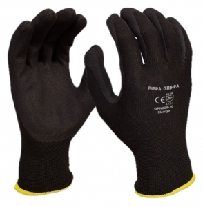 'Rippa Grippa' Black Nitrile Coated Synthetic Glove