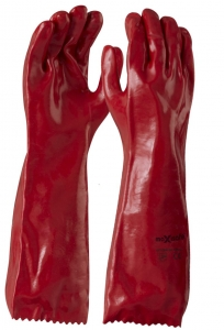 Maxisafe Red PVC Gauntlet - 45cm