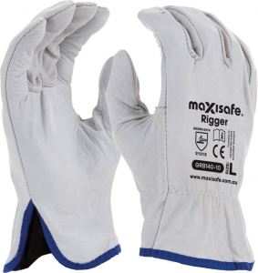 Maxisafe Natural Full-Grain Leather Rigger Glove
