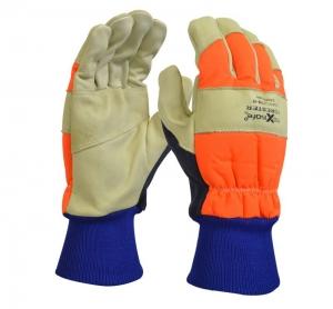 Forester Premium Cow Grain Chainsaw Gloves