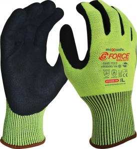 G-Force Hi-Vis Cut C Glove with Nitrile Palm