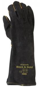 Black & Gold Welders Gauntlet
