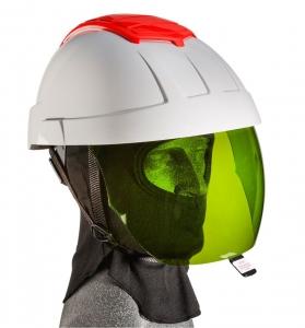 E-MAN Helmet with Green IR Visor and FR Balaclava
