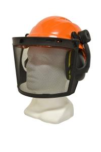 Maxisafe Forestry Kit - Orange Helmet with Mesh Visor & Muff