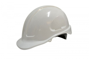 Maxisafe White Unvented Hard Hat - Ratchet Harness