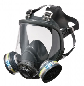 STS CX01 Silicone Twin Full Face Respirator