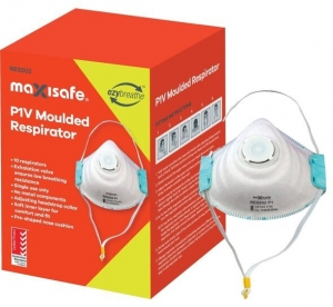 P1 Moulded Respirator with valve - box 10