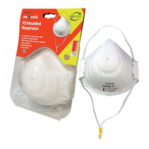 P2 Moulded Respirator card of 3