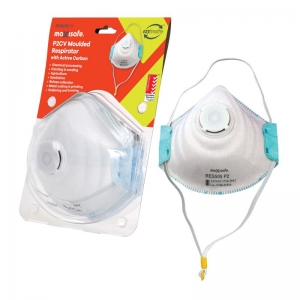 P2 Moulded Respirator with Carbon filter and Valve, card of 3