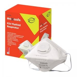 P2 Flat Fold Respirator with Valve - box 20