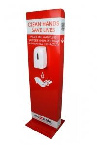 Heavy Duty Spray Sanitiser Dispenser Floor Stand, Square Base, Complete